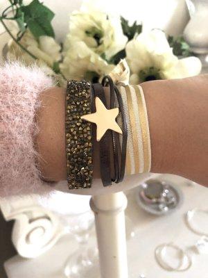 Armbänder Set braun gold beige Schmuck Armband