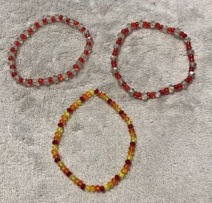 Bracelet orange-rouge