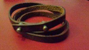 Braccialetto sottile bronzo Pelle
