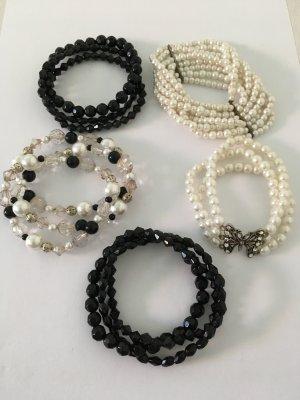 Armband, 5 er Set, Perlenarmbänder, Modeschmuck