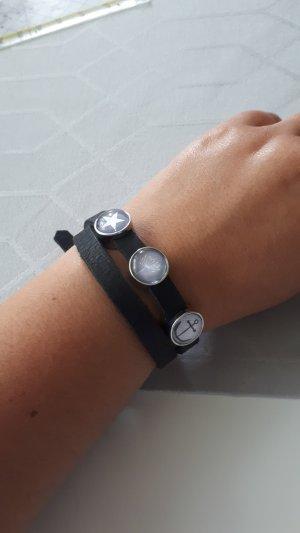 Bracelet en cuir multicolore