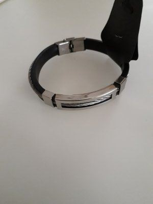 Bangle black-silver-colored