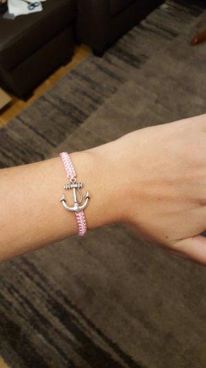 Armband Anker Rosa Rose Silber