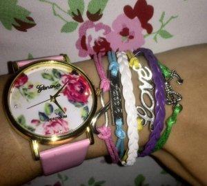 Armband Armcandy nude rosa Love Faith vintage blogger boho hipster NEU