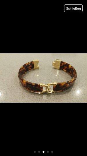 Armband Armreif neu Fossil braun Gold Schmuck Accessoires Blogger Mode Fashion