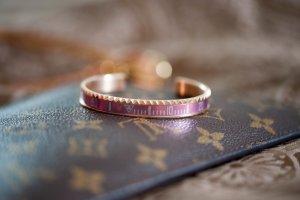Armband Armreif rosa / pink rosegold modeschmuck