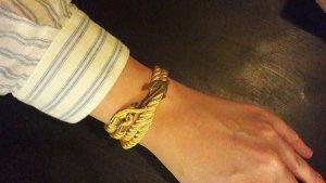Armband Armschmuck Kordel Seil Gold Anker Seemann Maritim Cruise