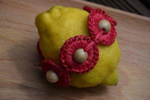 Bracelet rouge foncé-beige