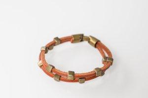 Armband aus brauen Leder - unisex