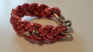 Armband aus geflochtenem Leder Weihnachtsgeschenk Handarbeit
