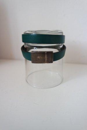 Lederen armband petrol-bos Groen