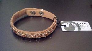 Armband aus Leder mit Steinchen