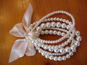 Pearl Bracelet white-pink