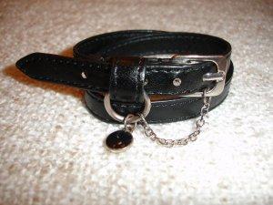H&M Leather Bracelet black-silver-colored