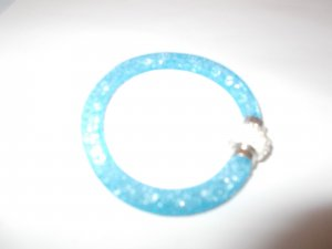 Bangle neon blue-silver-colored