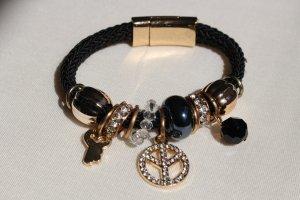 Armband Bettelarmband marineblau gold Schmuck