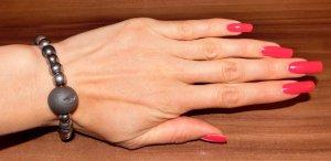 Armband Bijou Brigitte Echtsteine grau