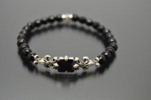 Armband Black Onyx & Lilie