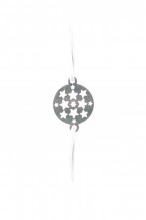 Bracelet pale blue-silver-colored star pattern casual look