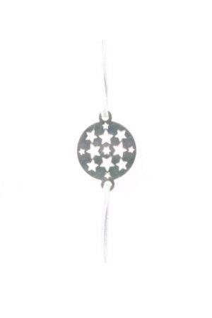 Armband lichtblauw-zilver Sterrenpatroon casual uitstraling