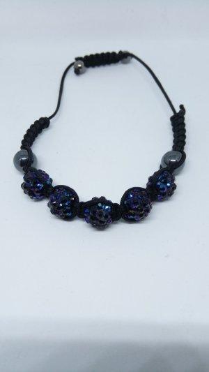 Armband donkerblauw-zwart