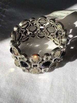 Armband Bracelet Armreif Steine Statement Senso di Donna olivgrün schwarz Steine