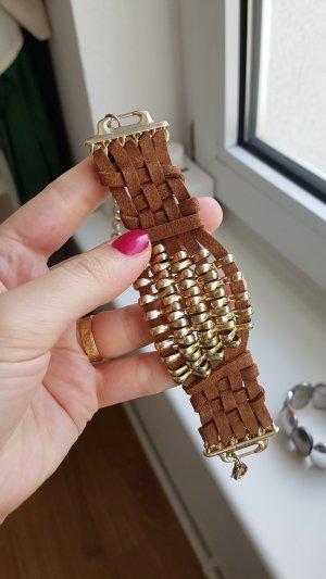 armband braun gold