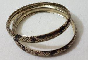 Bracelet black-gold-colored