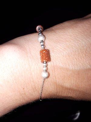 Armband echt silber Goldfluss