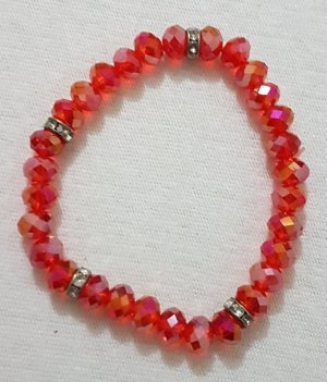 Bracelet silver-colored-red