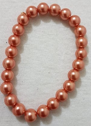 Vintage Pearl Bracelet nude-dark orange
