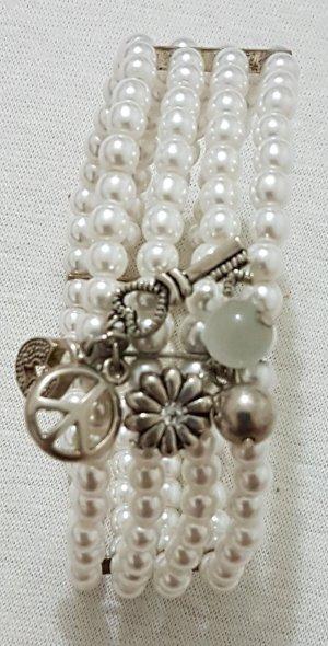 Vintage Pearl Bracelet white-silver-colored