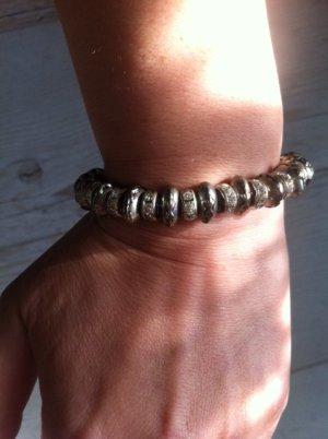 Armband, elastisch, silber, Strass
