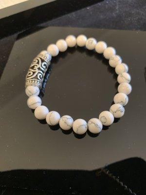 Armband elastisch weiss Silber schwarz