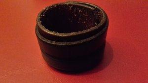 Braccialetto sottile nero-marrone Pelle