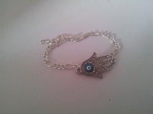 Armband, Fatima Hand, Modeschmuck, silber, neu