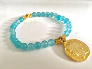 Armband flex Aquamarine Anhänger Münze von  Dolce und Gabbana