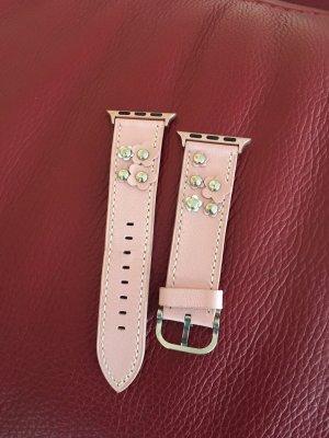 Bracelet en cuir rose clair