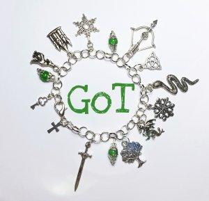 "Armband ""Game of Thrones"" neu diy handgemacht grün silber Perle GoT Damen Geschenk"