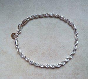 Armband gedreht 925 Sterling Silber