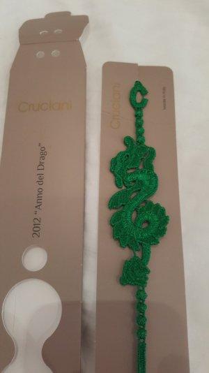 Armband geflochten grün cruciani