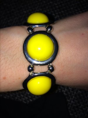 Armband gelb, silberfarben