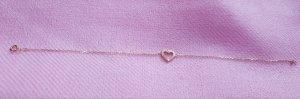 Armband Gelbgold 9 Karat / 375 Gold mit Herz Diamant Brillianten 0.06