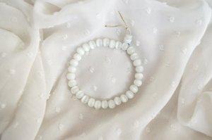 Armband Glasperlen Weiß Elfenbein Preppy Chic Marmoriert Cleanchic