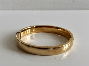 Vintage Bangle gold-colored real silver