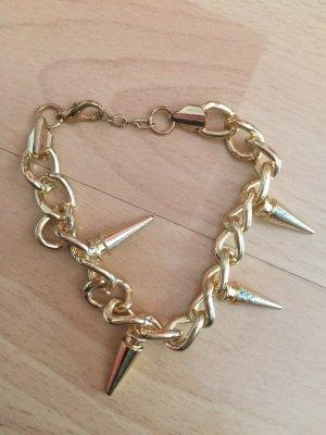 Armband Gold Nieten Stacheln