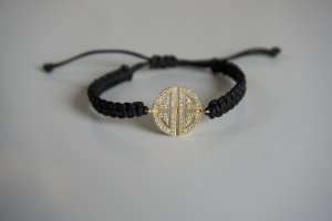 Armband Gold Ornament schwarz
