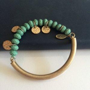 Armband goldene Plättchen und türkise Steine