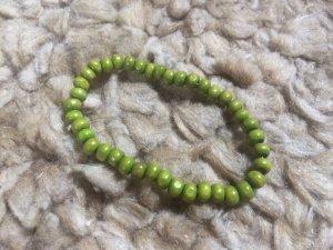 Armband, grün, Perlenarmband