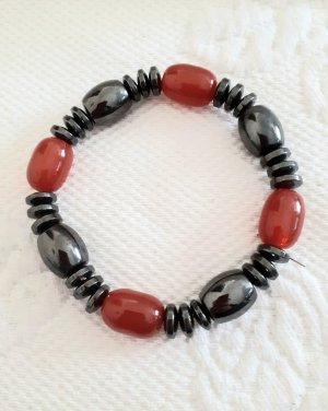 Bracelet anthracite-bright red
